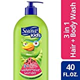 SUAVE HAIR Kids Watermelon Wonder 3 In 1 Shampoo Conditioner Body Wash, 40 Ounce