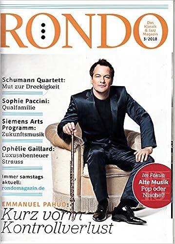 Rondo Magazin 3 2018 mit CD Emmanuel Pahud Zeitschrift