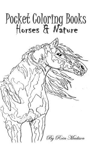 Pocket Coloring Journal: Horses & Nature
