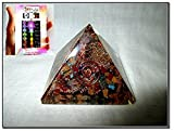 New Mix Gemstone Chakra Orgone Pyramid Crystal Gemstones Copper Metal Mix Rare Healing Positive Energy Tetrahedron Sacred Geometry Memory Concentration Meditation Spiritual Psychic Piezo Electric Effect Business Prosperity Success Destress Anxiety Disorder Love Power Mental Peace Strength Divine X-mas Mother's Day Father's Day Thanks Giving Birthday Anniversary Thinking of You Sorry Hug Get Well Soon Husband Wife Grand Father Children Pregnant Ladies New Born Babies Memory Motivation Inspiration Dream Reality Imagination Pagan Wicca Om Mantra Holy Pious Auspicious India Asia Negative Ion Enhancer Electromagnetic Waves Positive Frequency Valentine Celebration Event Function Office Opening Altar Worship Idol God Lord Sir Students Concentration