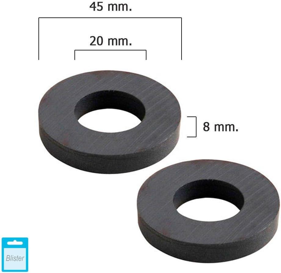 plata 50 x 19 x 5 mm de espesor First4magnets FE501910-Im/án de ferrita paquete de 10 unidades tir/ón de 3 kg,metal