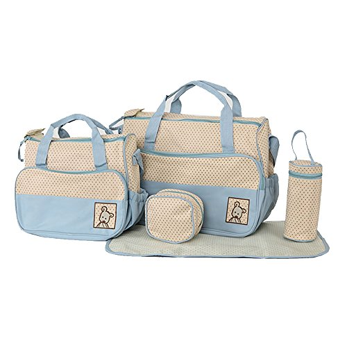 tita-dong-5-pieces-set-fashion-waterproof-mummy-diaper-bag-multi-functional-large-capacity-package-l