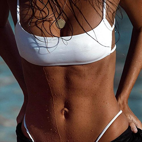 BZLine® Frauen Plain Simple Women Girls Beach Bikini Beachwear Beach Weiß DtOQxvY