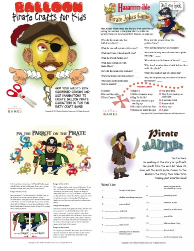 Printable Pirate Party Games Pack for Mac [Download] (Printable Map Digital)