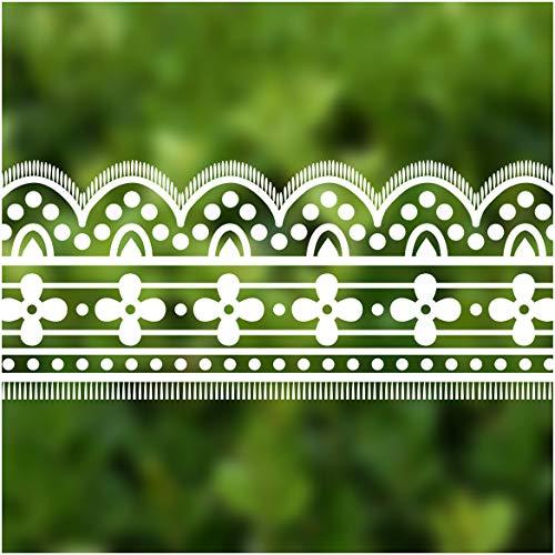 VEELIKE Lace Wallpaper Border 4 inch×32.8 ft Waterproof Decorative Self Adhesive Film -