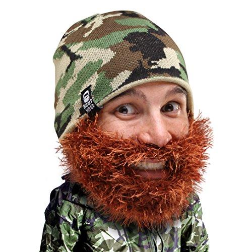 Beard Head Bushy Duke Beard Beanie - Camouflage Hat w/Fake Beard Facemask