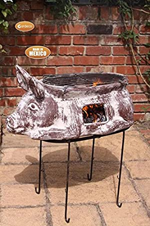 Gardeco asador cerdito Inc soporte y parrilla para barbacoa: Amazon.es: Jardín