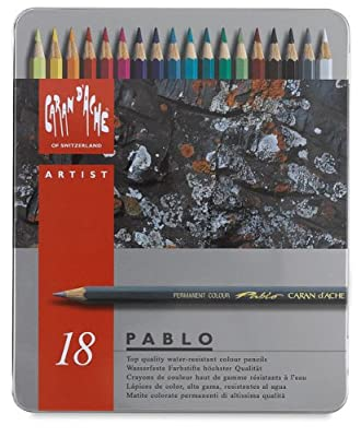 CREATIVE ART MATERIALS Caran D'ache Pablo Color Pencils Set Of 18 (666.318)