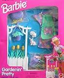 Barbie Gardenin' Pretty Dress 'N Play Set w FASHIONS & Accessories (1997 Arcotoys, Mattel)