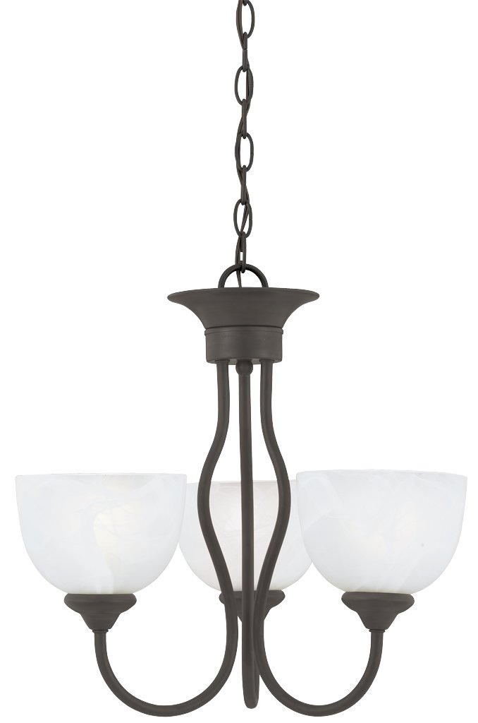 Thomas Lighting Sl8014-63 Tahoe Three-Light Chandelier, Bronze Finish
