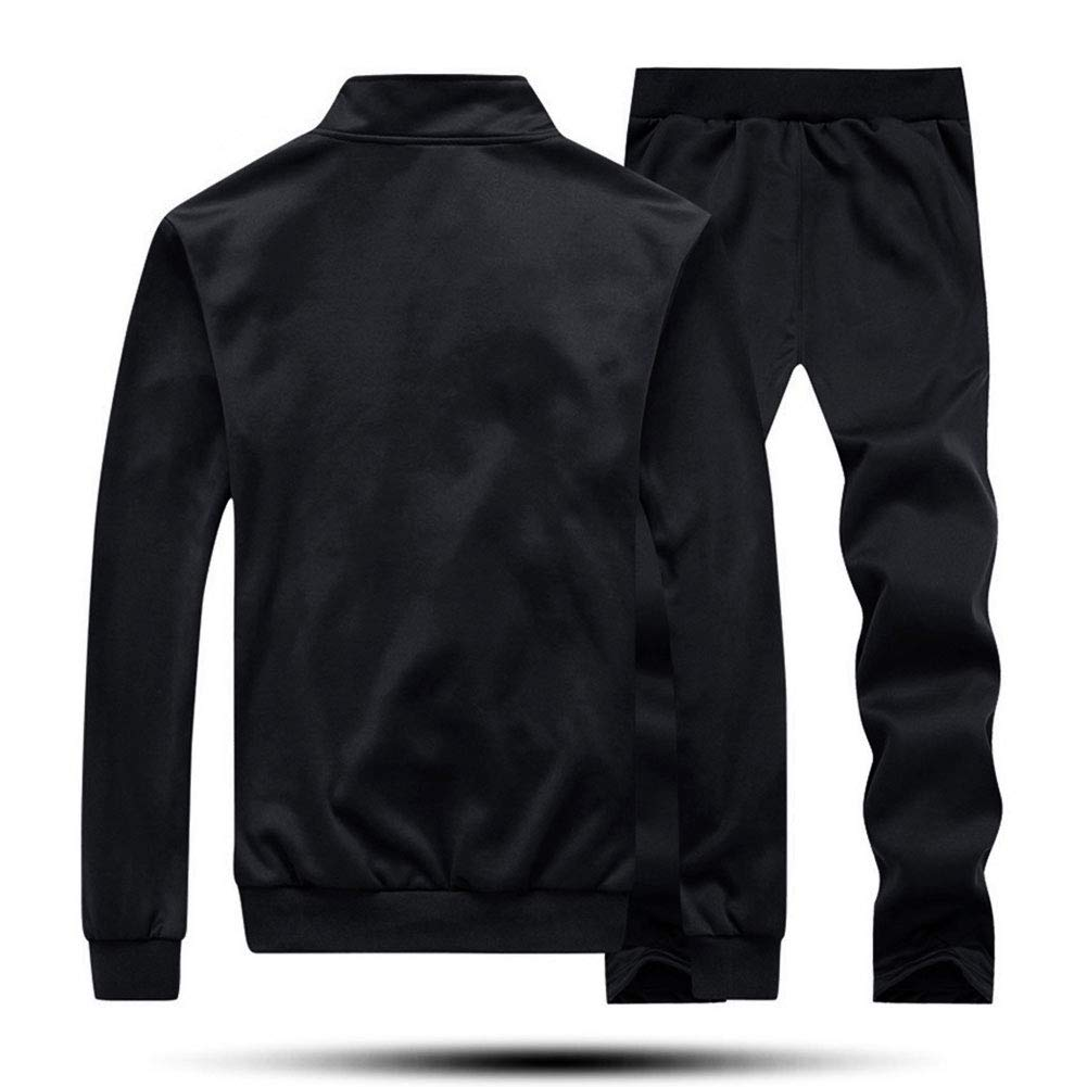 EKLENTSON Mens Tracksuit Set-Gym Joggers Casual Activewear Long Sleeve Stand Collar Backetball Sweatsuits