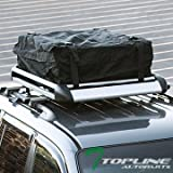 Cheap Topline Autopart 49″ Silver Square Roof Rail Rack Cross Bars Kit+Cargo Carrier Luggage Basket T1
