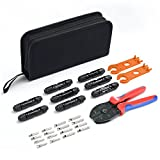 MICTUNING MC3 MC4 Solar Crimping Tool Kits with Wire Crimper, MC4 Spanner, MC4 Solar Connectors, Solar Connector Pins for 2.5/4.0/6.0mm² Solar Panel PV Cable