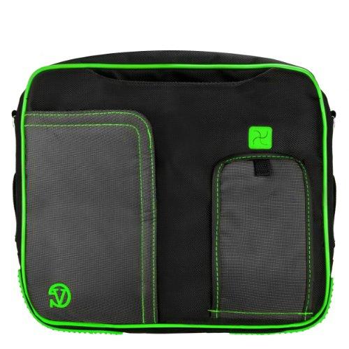 VanGoddy Pindar Messenger Carrying Bag for Samsung Galaxy Note PRO 12.2/Samsung Galaxy Tab PRO 12.2'' Tablets + Bluetooth Keyboard + Headphones (Green) by Vangoddy (Image #5)