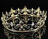 Janefashions Full King's Crown Austrian Rhinestone Crystal Pageant Fleur-de-lis T1298 Gold