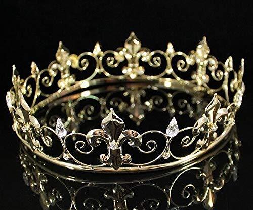 Janefashions Full King's Crown Austrian Rhinestone Crystal Pageant