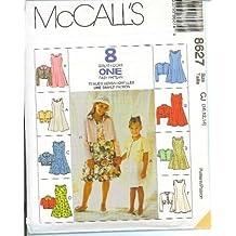 McCall's Sewing Pattern 8627 Girls' Unlined Jacket & Dress, Size CF (4 5 6)