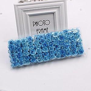 144pcs Mini Paper Rose Handmake Artificial Flower Bouquet Wedding Decoration DIY Wreath Gift Scrap Booking Craft Fake Flower 4