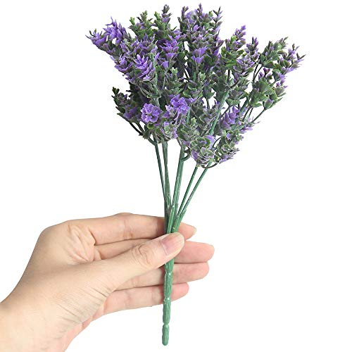 - MaxFox Artificial Fake Flower,Small Fresh Leaves Grass Plant Bouquet For Home Wedding Display Simulation Floral Decor (Purple)