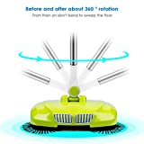 LianLe Household Automatic Hand Push Sweeper Broom without Electricity Multi-Functional Profession Vacuum Cleaner Sweeping Robot ,Dustpan and Trash Bin 3 in 1 Floor Cleaning System
