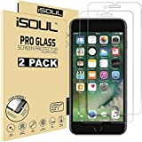 [2 Pack] Screen Protector for iPhone 8 iPhone 7 Tempered Glass Film 9H HD, iSOUL 2.5D Edge 4.7 inch [3D Touch] [Anti-Scratch] [Compatible with Apple iPhone 6s/6]