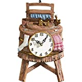 Vintage Wash Bucket Shaped Wall Clock, Brown Review