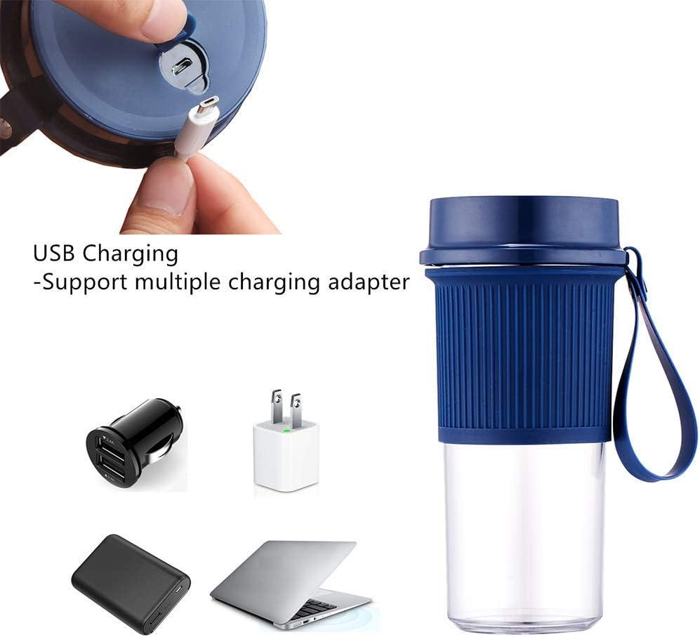 COOMII Licuadora portátil, batidora de tamaño personal inalámbrica, mini licuadora personal pequeña batidora: Amazon.es: Hogar