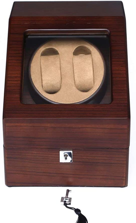 N/B Mira el enrollador Mira Las Cajas del enrollador 2 + 3 Reloj mecánico de Madera Maciza Caja de bobinado automático Motor antimagnético Completo Mira el enrollador