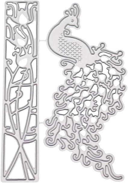 Beautiful Peacock Metal Cutting Dies Stencils Scrapbooking Decor Cards Crafts