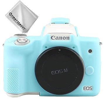 Azul Cuerpo Completo Caucho de TPU Funda Estuche Silicona para cámara para Canon EOS M50 XJPT-EOS M50-GJ-03G11