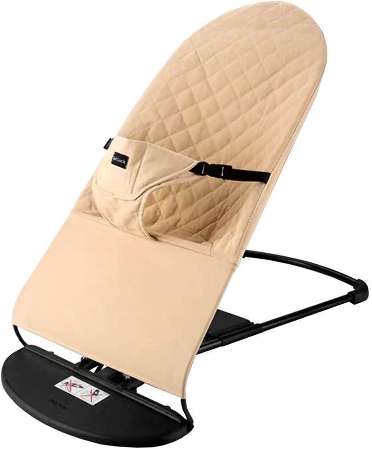WXX Silla Mecedora para bebés, Columpio portátil Silla cómoda para bebés artefacto Cuna Cuna sillón reclinable guardaespaldas Equilibrio Suave,C