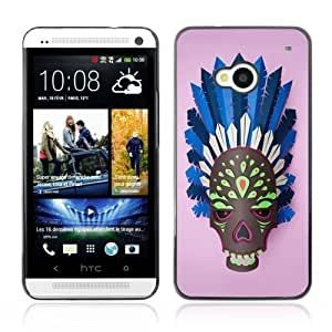 YOYOSHOP [Indian Skull Mask] HTC One M7 Case by icecream design