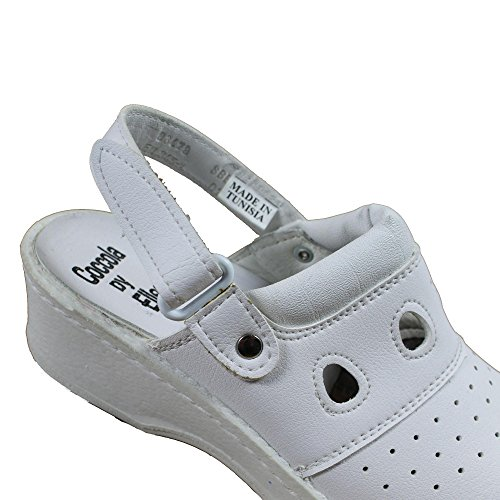 Jal Group PBEA Sicherheitsandale Kochschuhe Laborschuhe Sandale mit Absatz weiss B-Ware Weiß