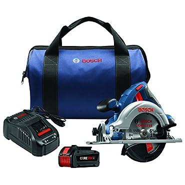 Bosch CCS180-B14 18V 6-1/2 Circular Saw Kit with CORE18V Battery, Blue