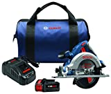 "Bosch CCS180-B14 18V 6-1/2"" Circular Saw Kit with CORE18V Battery, Blue"