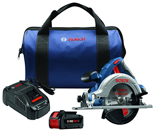 Bosch CCS180-B14 18V 6-1/2″ Circular Saw Kit with CORE18V Battery, Blue