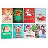 5D Christmas Cards FOONEE Diamond Painting Christmas Cards 5D DIY Round Drill Greeting Cards 8 Packs