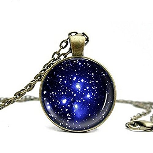 Galaxy Cabochon Necklace Pendant Jewelry