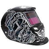 LEXPON Automatik Schweißhelm Solar Welding Helmet Schweißmaske Schweißschirm Schweißschild(Gentleman Skull)
