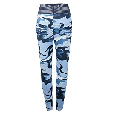 RYTEJFES Pantalones Mujer Pantalones De Yoga Retro Camuflaje ...