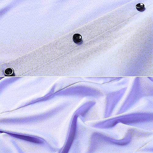 shirt Chiaro Fibra Molti Da Cui Bambù Per Scegliere Colori Uomo Slim Manica Di Corta Fit Camicia Tra Viola In T Formale P5q6R