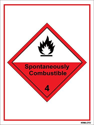 Self Adhesive Labels - Spontaneously Combustible (Set of 50 pcs)