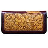 OLG.YAT Vegetable tanned leather Retro Genuine Leather Men's Wallets WL20