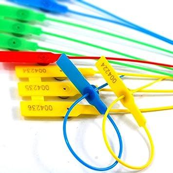 Pull-tite Plastique S/écurit/é Joint Num/érot/ées Bleu Length:280mm Rouge