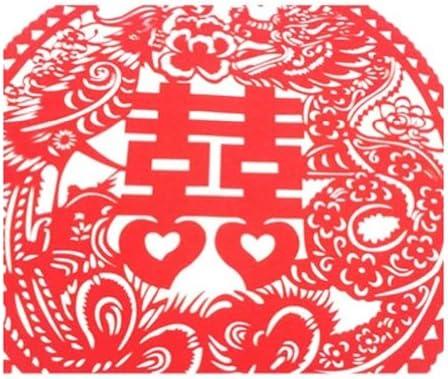 4ピース美しい中空ドラゴン&フェニックス繊細な中国紙のカットデコレーション