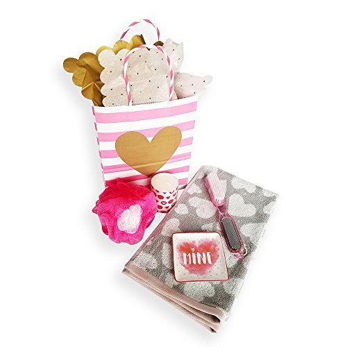 Bath Gift Bundle with Betsey Johnson Designer Hand Towel, Mi