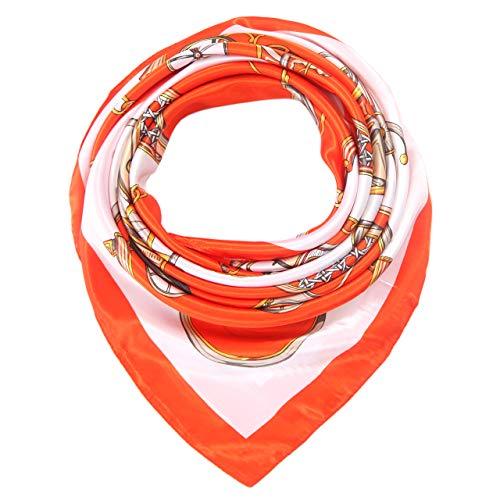 Women's Silk Like Scarf Hair Satin Scarf Fashion Pattern Square Headscarf for Sleeping
