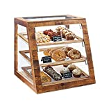 """Cal-Mil 3432-S-99 Slanted Display Case, Self Serve, 21.5"""" Height, 21"""" Width, 21.5"""" Length, Madera"""