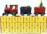 Wooden Train Theme Christmas Advent Calendar 16 Inch Holiday Countdown