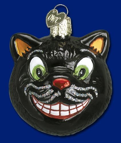 GRINNING CAT Halloween Ornament